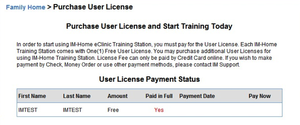 purhase user license