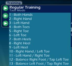 reg training drop down
